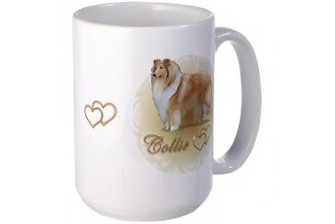 Collie Hearts Pets Large Mug by CafePress