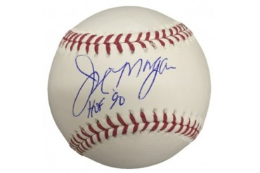 Joe Morgan Cincinnati Reds Signed Rawlings MLB Baseball HOF 90 JSA