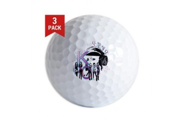LOVE KPOP Music Golf Balls by CafePress