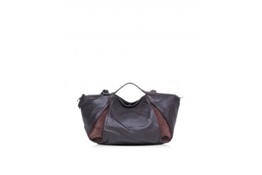 Copacabana Grainy Leather and Nabuk Tote w/Shoulder Strap