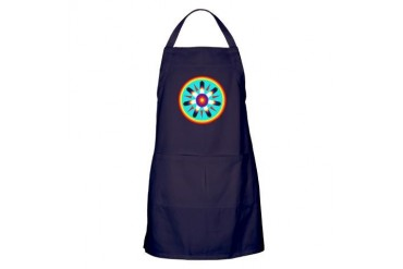EAGLE FEATHER MEDALLION Native american Apron dark by CafePress