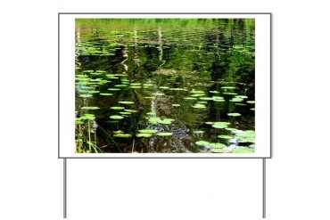 Pond Nature Yard Sign by CafePress