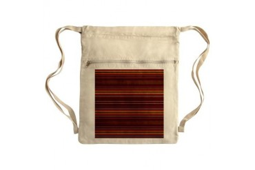 Red Stripes Sack Pack Vintage Cinch Sack by CafePress