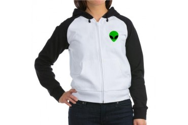 Alien Head Alien Women's Raglan Hoodie by CafePress