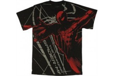 Marvel Comics Amazing Spider-Man Stencil Foil T-Shirt