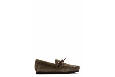 Isabel Marant Green Brushed Suede Moccasins