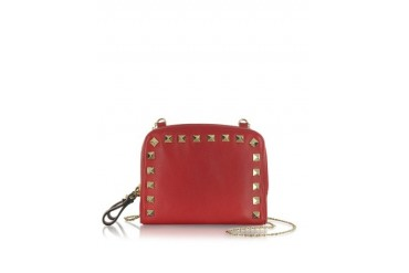 Rockstud Red Double Mini Shoulder Bag
