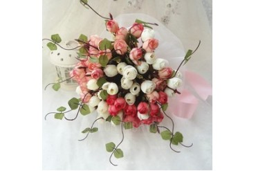 Gorgeous Hand-tied Cloth Bridal Bouquets (123047071)