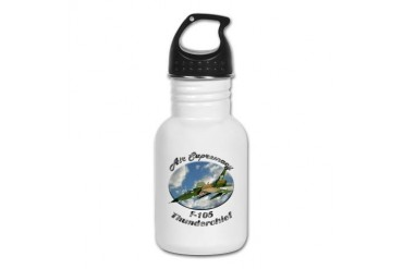 F-105 Thunderchief Hobbies Kid's Water Bottle by CafePress