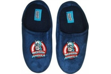 Marvel Comics Captain America Logo Name Head Slippers
