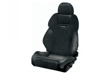 Recaro Style XL Topline Left Seat Black LeatherBlack Leather Black Logo