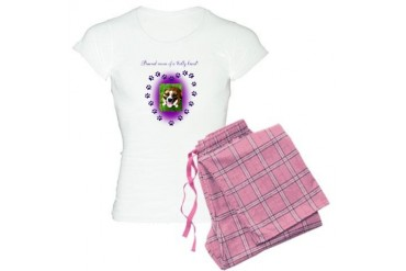 Pround Mom of a Bully Breed Pitbull Women's Light Pajamas by CafePress