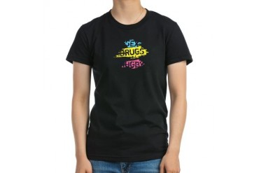 Sex Drugs And Rugby Vintage Women's Fitted T-Shirt dark by CafePress
