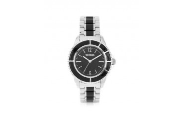 Tokyo Crystal 42 Stainless Steel and Black Unisex Watch