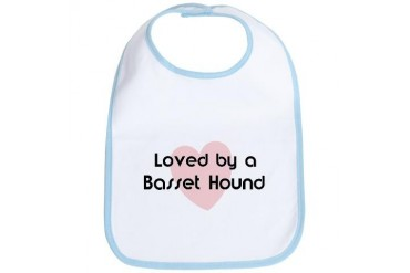Loved by a Basset Hound Dog Bib by CafePress