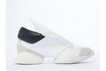 Adidas Originals X Rick Owens Runner Mens in White Black Bone size 11.0