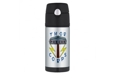 Thor Corps Hammer Large Viking Thermos Bottle 12oz by CafePress