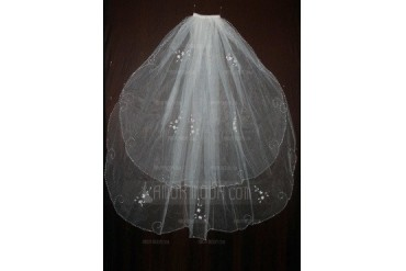 Two-tier Elbow Bridal Veils With Finished Edge (006035471)
