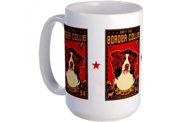 Border Collie Revolution! Large Mug