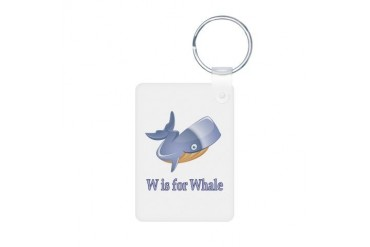 W is for Whale Baby Aluminum Photo Keychain by CafePress