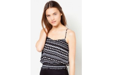 Material Girl Tribal Smocked Waist Cami Top