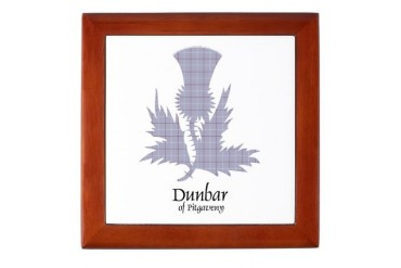 Thistle - Dunbar of Pitgaveny Scottish Keepsake Box by CafePress