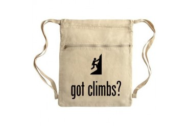 Climbing Sack Pack Funny Cinch Sack by CafePress