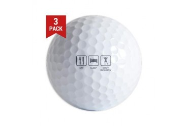 Eat Sleep Bodybuilding Funny Golf Balls by CafePress