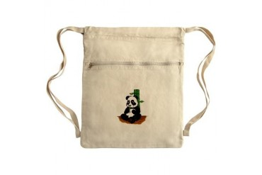 Happy Panda Sack Pack Cartoon Cinch Sack by CafePress