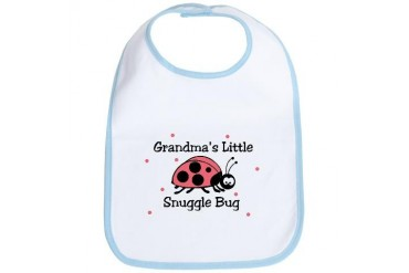 Grandma's Little Snuggle Bug Baby Baby Bib by CafePress