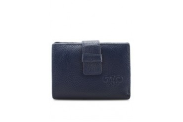 Berries Cow Leather Short Wallet