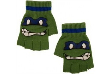 Teenage Mutant Ninja Turtles Leonardo Face Fingerless Gloves