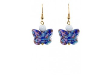 Murano Glass Butterfly Earrings