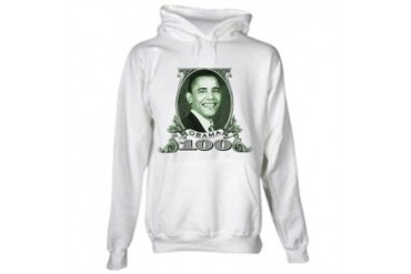 Barack Obama Hundred Dollar Bill Hooded Sweatshirt