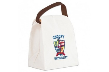 CafePress Snoopy University Canvas Lunch Bag