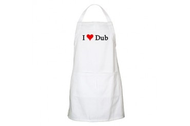 I Love Dub BBQ Music Apron by CafePress