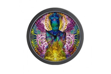 Angel Passage Psychedelic Wall Clock by CafePress