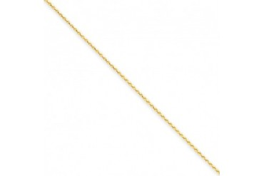 1mm, 14 Karat Yellow Gold, Diamond-Cut Spiga Chain - 30 inch