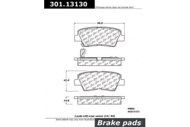 2010-2013 Kia Soul Brake Pad Set Centric Kia Brake Pad Set 301.13130 10 11 12 13