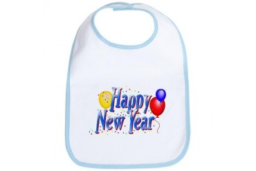 New Year Confetti & Balloons Bib