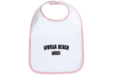 Riviera Beach Rocks Florida Bib by CafePress