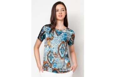 DressingPaula Printed Short Sleeve Top