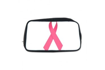 Breast Cancer Awareness Ribbon Cancer Toiletry Bag by CafePress