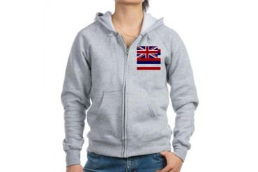Hawaii Flag Flag Women's Zip Hoodie by CafePress