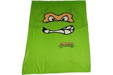 Ninja Turtles Michelangelo Face Sleeved Blanket