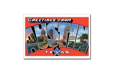Austin Texas Greetings Vintage Postcards Package of 8 by CafePress