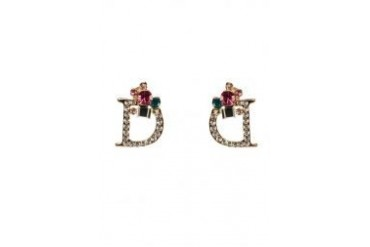 Black Queen D Earrings