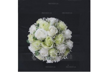 Delicate Round Satin/Paper Bridesmaid Bouquets (123031477)