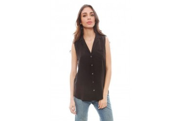 Sleeveless Keira Blouse in Black - designed by Equipment