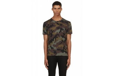 Valentino Green Camo Single stud T shirt